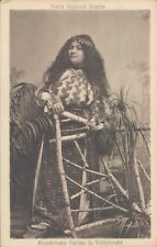 ROMANIA nice woman in traditional costume 1910s PC