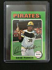 "DAVE ""THE COBRA"" PARKER 1975 MINI ""2ND YR PITTSBURGH PIRATES TOPPS BASEBALL CARD"