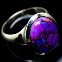 Purple Copper Turquoise 925 Sterling Silver Ring Size 8.75 Jewelry R23210F