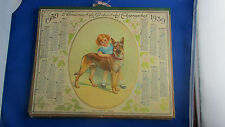 ancien calendrier 1939 ptt almanach des postes fillette chien berger allemand