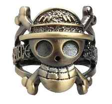 ONE PIECE luffy Straw Hat Pirate anchor Metal Cosplay ring Pendant Hot