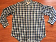 Levis Cotton Canvas Blue Check  Shirt Men's Size XL