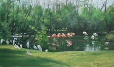 """Noted Yellowstone Park """"Listed"""" Artist, Tooby Burton, Original Painting (C)"""