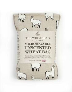 Llama design Microwavable Unscented Wheat bag handmade in the UK  relaxing