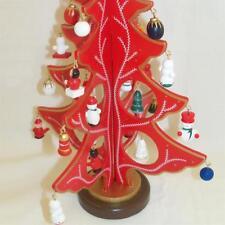 Premier madera Árbol de Navidad con 25 adornos & Star Top - rojo