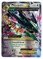 Rayquaza 76/108 Gold Mega EX Card Pokemon Collection Plastic Card Free 2 EX
