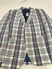 Vineyard Vines Yardmouth Plaid Sports Coat - Size 44 R - 100% Cotton Shell - NWT