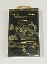 Vintage Skullcandy FMJ Full Metal Jacket Earbuds Green with Black Braided Cable