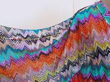 New MISSONI MARE Iconic Pattern Mini Kaftan/Caftan Tunic Poncho Dress OS ITALY