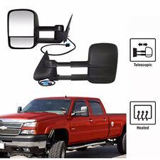 For 03-07 Silverado Tahoe Sierra Telescoping POWER+HEATED Towing Side Mirrors