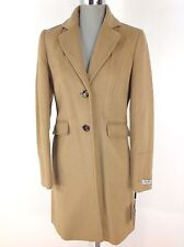 CALVIN KLEIN NewWT Camel Wool Blend Single Breasted Women's Coat Khaki all sizes