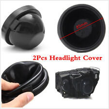 2 Pcs 85mm Rubber LED HID Headlight Light Housing Seal Cap Dust Cover For Cars