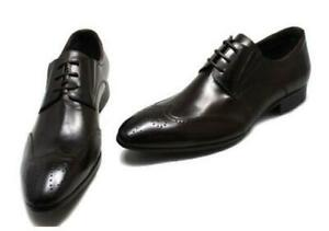 Mens Pointy Toe Carved Business Formal Real Leather Bridegroom Wedding Shoes L