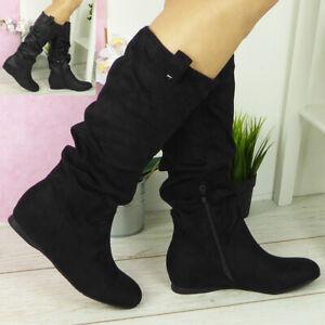 Mid-Calf Biker Boots for Women   eBay