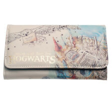 Harry Potter Watercolor Hedwig Hogwarts School Trifold Wallet FREE EPACKET TO US