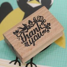Thank you stamp with birds and flowers- Craft / Scrapbooking