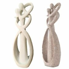Natural Sandstone Kissing Lover Couple Figurine Wedding Home Decor Souvenir Gift