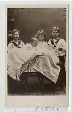 CHILDREN OF HRH PRINCE & PRINCESS OF WALES: 1907 Royalty postcard (C18392)