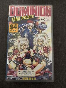 Dominion Tank Police - Rare Vhs Video Tape - Manga Anime