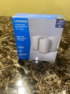 Linksys Velop Dual Band AC3600 Intelligent Mesh WiFi Router - 3 Pack