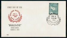 United Nations 1959 Bullseye Hand Cancel cover wwi4237