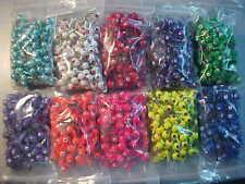 50 New Lead Head Jig Heads 3/8 Oz. Walleye Jigs Assorted Solid Colors