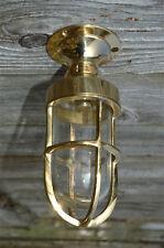 Small polished brass boat ceiling bulkhead flush mount light wall lamp SFMB1 B