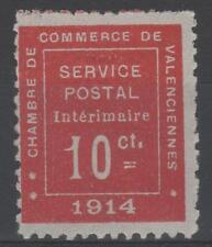 """FRANCE TIMBRE GUERRE 1 """" CHAMBRE COMMERCE VALENCIENNES 1914 """" NEUF xx TB K984"""