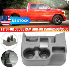 💦 Center Console Cup Holder Gray For Dodge Ram Add-On 1500 2500 3500 03~12 Gray