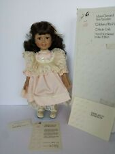 """Pre-Owned Marie Osmond Maria Latina Porcelain Doll 17"""" Standing Coa #655"""