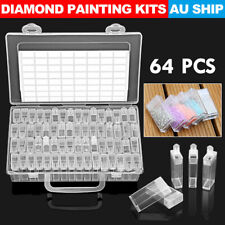 64 Slots Bottles Diamond Painting Storage Box Kit Art Nail Accessories Case New