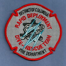 DISTRICT OF COLUMBIA FIRE DEPARTMENT DIVE RESCUE TEAM PATCH