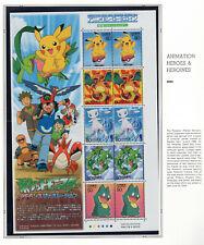Japan 2005 Animation Heroes & Heroines series 1 NH Scott 2919 Pokemon Sheet