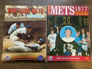 1971 & 1977 NEW YORK METS OFFICIAL YEARBOOKS