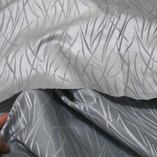 Blickdichter Vorhang Gardinenstoff in silber 250cm breite Übergardine Meterware