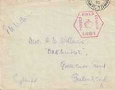 1916 George V censored cover sent from Field Post Office