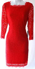 Adrianna Papell red lace elegant cocktail mother of the bride wedding dress 8P