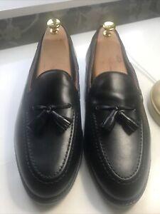 Shipton & Heneage Tasseled Black  Loafers Men's Uk Size 10 F US 11 D