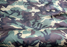 CAMOUFLAGE DPM ARMY PATTERN POLYESTER FABRIC MATERIAL CLOTH. 148cm x 100cm