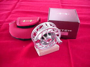 Hatch Outdoors Finatic 3 Generation II Plus Large Arbor Clear/Green Fly Reel NEW
