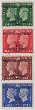(Q3-14) 1940 Morocco agencies 4set 5c to25c O/P on Cent