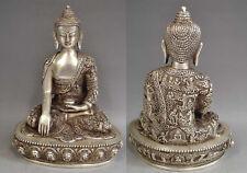 Old Tibetan Silver Sakyamuni Buddha Copper Statue, height 22cm