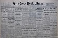4-1931 APRIL 6 KING GEORGE HEALTH CONCERN MAYOR WALKER RETURNS. BERLIN AUSTRIA