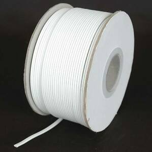 White SPT1 Wire Extension Cord Wire AWG 18 Gauge Zip Cord 100' 250' 1000'