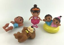Dora The Explorer Figures 4pc Lot Dance Dora Baby Brother Baby Sister Puppy Toys