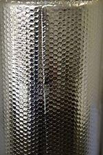 DOUBLE FOIL bolla isolante per pavimento muro CARAVAN CAPANNONE Loft Tetto 10 M ROTOLO