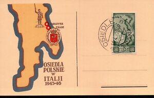 - FDC OSIEDLA POLSKIE W ITALJI 1945-46 TRANI BARLETTA POLONIA Corpo Polacco 1946