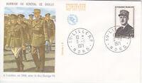 Enveloppe 1er jour CEF 1971 : Hommage au Général de Gaulle A Londre en 1940