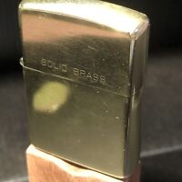 Vintage Zippo Lighter Solid Brass