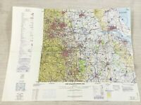 1978 Vintage Militare Map Leeds Kingston Upon Hull Lincoln USAF Raf Problema